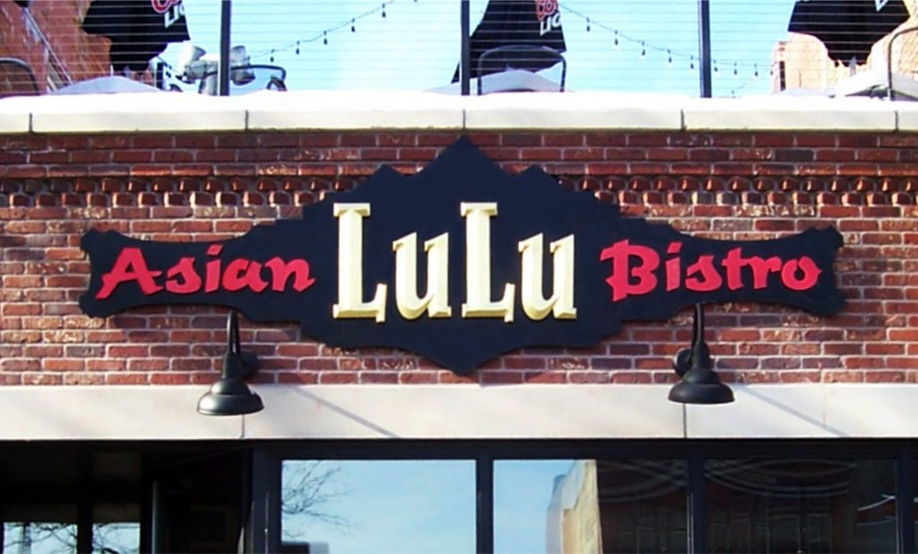 Featured Business Lulu Asian Bistro sign