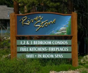 River Stone Resort sign