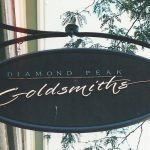 hand-crafted diamond peak sign