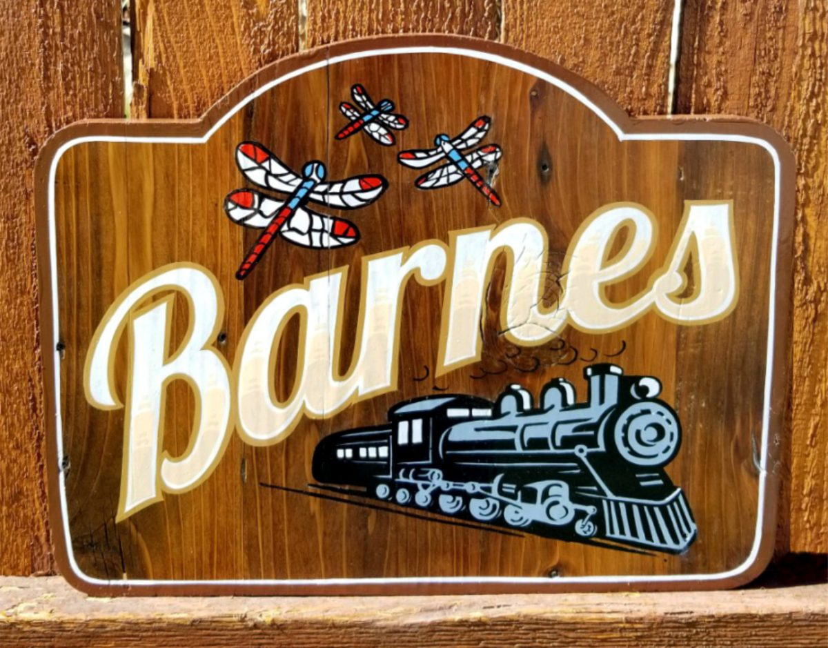 Residence and cabin signs Barnes sign