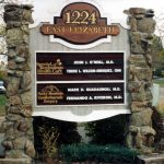 monument sign, custom sign, sandblasted, hand carved, gold leaf, routed, custom cut