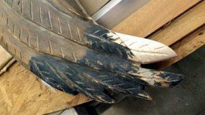 custom repair and refurbishing eagle wingtip