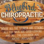 bluebird chiropractic non-dimensional sign
