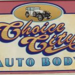 non-dimensional sign for choice city auto body