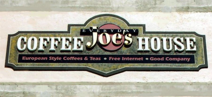 everyday joe's coffee house sign