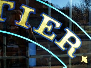 window lettering gold leaf detail
