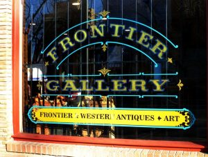 frontier gallery storefront lettering
