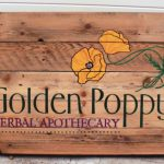 golden poppy eco-friendly sign