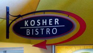 the kosher bistro sign