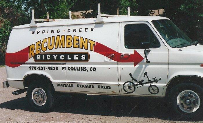 Spring Creek Recumbent bicycles van