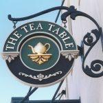 the tea table sandblasted sign