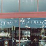 vintage clock window lettering