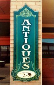 throwback thursday vintage clock sign