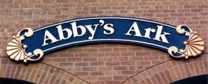abbys ark dimensional storefront sign