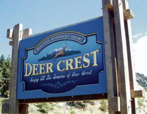deer crest monument sign