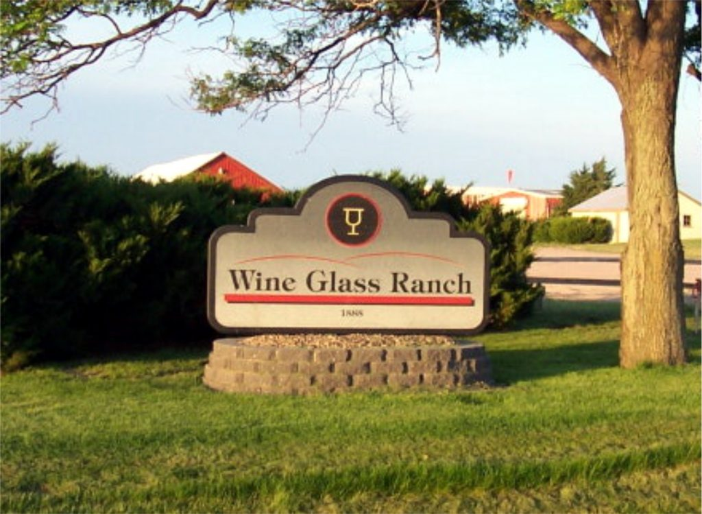 wine glass ranch sign