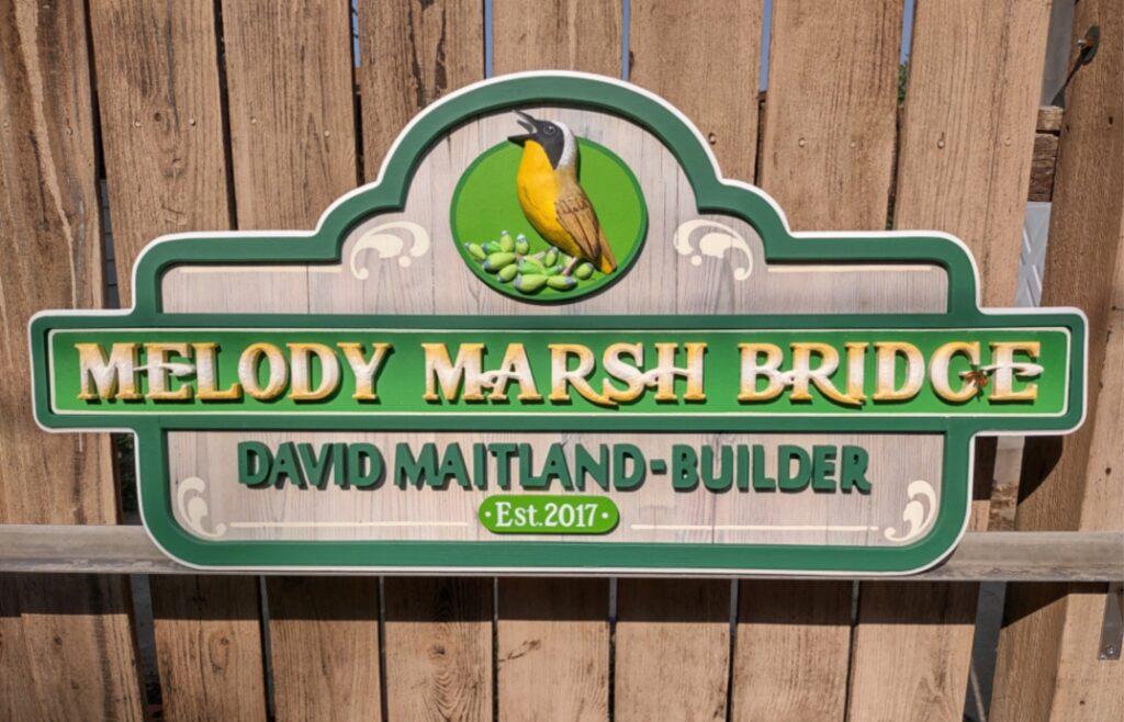 melody marsh bridge sign